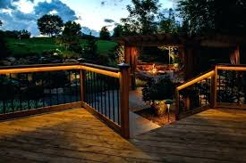 led deck rail lights. Lowes Deck Lighting Under Outdoor Kits Stair Post Caps . Led Rail Lights A