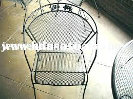metal mesh patio chairs. Interesting Metal Mesh Patio Table Iron Furniture Wire Metal  Vintage  Intended Metal Mesh Patio Chairs
