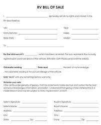 real estate bill of sale form printable sample printable bill of sale for travel trailer form