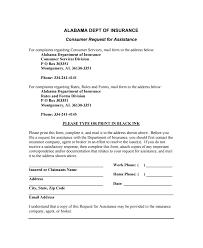 Alabama Insurance Commissioner Complaint