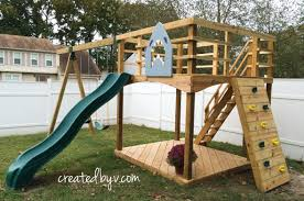 Outdoor playset plans diy by createdbyv strong