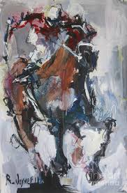horse painting abstract horse racing painting by robert joyner