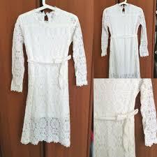 White Lace Dress Womens Fashion Clothes Dresses Skirts
