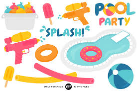 pool party clipart black and white. Delighful Black Pool Clipart Pool Supply Party By Emily Peterson Banner Black And White  Library In Clipart Black And White T