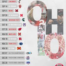 Osu My Chart Tulsa Printable 2019 Ohio State Football Schedule Land Grant