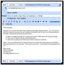 How To Write Email Cover Letter For Resume And Great How To Write