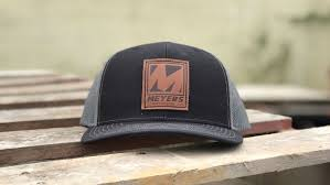 construction company custom leather patch hat construction company custom leather patch hat