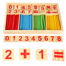 Wooden Math Games Colorful Wooden Baby Preschool Math Toys Educational Learning 91