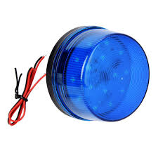 12v Blue Strobe Light 12v Blue Alarm Signal Blue Led Strobe Beacon Alarm Flashing Light Without Sound Explosion Proof Can Be Used In The Field For Home Security Alarm