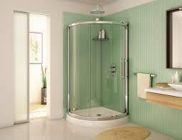 Clocks, Stunning Corner Shower Units Round Corner Shower Green Wall Floor  Mirror: corner shower ...