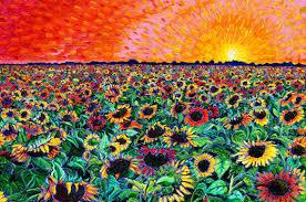 sunflower splatter paint liberty puzzles 7