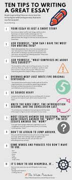 tips to write an essay and actually enjoy it infographic 10 tips to write an essay and actually enjoy it