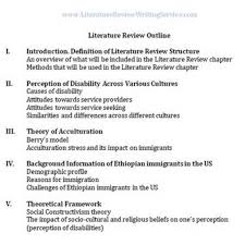 Dissertation Rature Review Outline Example Introduction