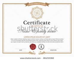 Example Of Share Certificate Interesting Certificate Border Design 48Freevectors