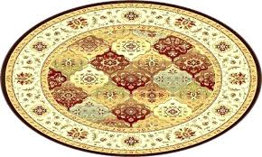 yellow circle rug round area rugs red decoration kitchen small circular ikea