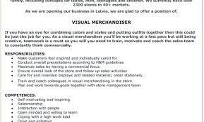 Merchandising Resume Visual Merchandising Resume Sample Fashion Merchandising Resume