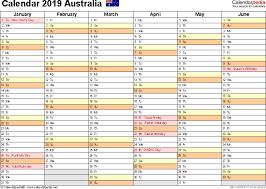 Calendar 2019 Printable With Holidays Australia Calendar 2019 Free Printable Pdf Templates