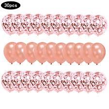 <b>30pcs</b>/<b>set Rose Gold</b> Balloon Confetti Set <b>12inch</b> Birthday Party ...