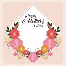 Mother S Day Graphic Design Happy Mothers Day Card With Flowers Vector Illustration Graphic