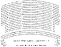 Orpheum Theater Seating Chart View San Francisco Seating Chart La Orpheum