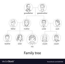 Family Tree Chart Vector Images 48