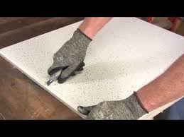 how to cut ceiling tiles you