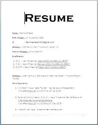 Sample Simple Resume Mesmerizing Resume Formats Samples Layout Of Resume For Job Samples Of Simple