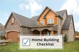 new home building checklist