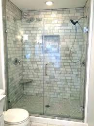 bathroom shower tile home depot open shower with marble herringbone floor transitional