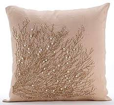 beige decorative pillows. Delighful Beige The HomeCentric Designer Beige Decorative Pillows Cover Jute Tree Branch  20u0026quot Intended