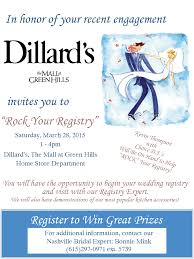 dillards the mall at green hills rock your registry event 2016 the pink bride