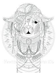Llama Coloring Pages Austenmorris