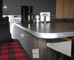 counter and table edge trim airstream forums for aluminum countertop inspirations 8