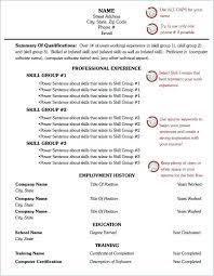 Microsoft Word 2010 Functional Resume Template Free Printable