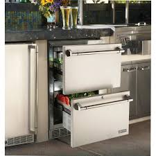Refrigerator Outdoor Lynx 24 Inch 50 Cu Ft Outdoor Rated Double Drawer Refrigerator