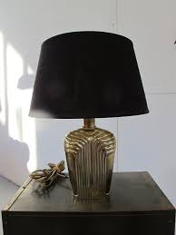 Lamp Mooie Deknudt Willy Rizzo Stijl Gouden Tafellamp Uit Jaren 70