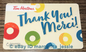 tim hortons gift card thank you merci 2017 brand new no value fd56321 canada 1 of 1