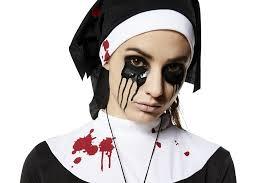 creepy possessed nun costume for