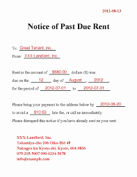 Past Due Rent Notice Template Best Of Great Past Due Letter Template