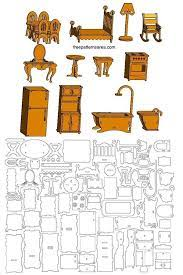 laser cut toy furniture plans for doll