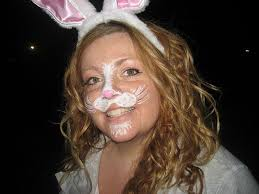 bunny face paint for easter hunt