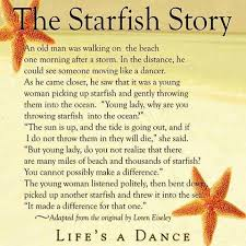 starfish finding dom epilepsy i came across this immensely heart warming story an excerpt from the 16 page essay by loren eiseley and it was a reminder to me and to all those out