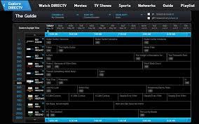 directv channel guide