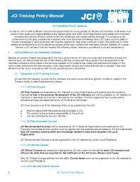 Bpo Training Material Free Download Jci Training Policy Manual Eng 2013 01