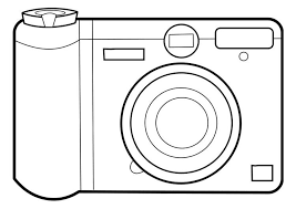 Coloring Page Camera Arts And Crafts Graphic Design Art Camera