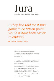 Font To Use For Resume Jura Ten By Twenty 61