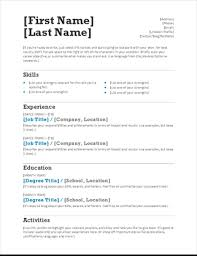 Job Resume Templates Fascinating Simple Resume