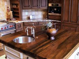 Granite Kitchen Islands White Kitchen Island With Wooden Countertop Dark Tone Cabinets