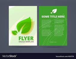Free Flyer Layout Flyer Template Ecological Product