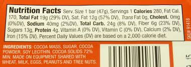 hershey dark chocolate bar nutrition facts. Delighful Bar Trader Joeu0027s 72 Cacao Dark Chocolate On Hershey Bar Nutrition Facts 0